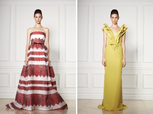 A kifutókon csodálatos, álomszép ruhákkal kápráztatnak el a luxus márkák képviselői. Éljen a nőiesség!