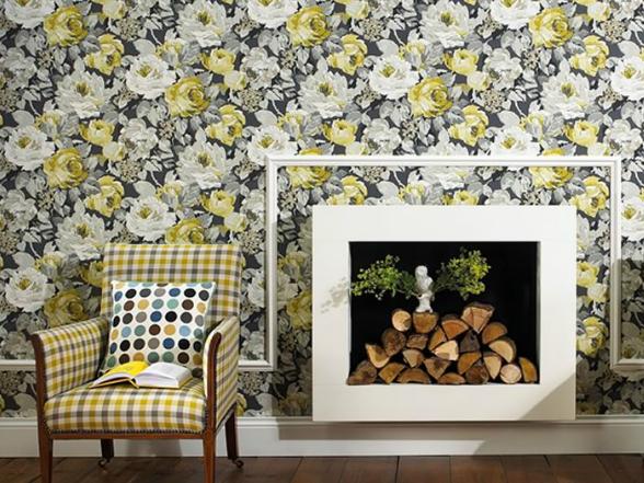 A nagy, karakteres virágminta játssza a főszerepet, mellyel ízig-vérig angol világot csempészhetünk otthonunkba.